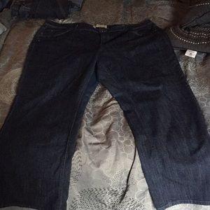Bootleg dark denim jeans 26w